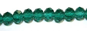 72pcs x 8mm dark green faceted glass rondelle beads -- S.G06 -- 3005625